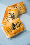 Puff pastry isolated on white background. Royalty Free Stock Image