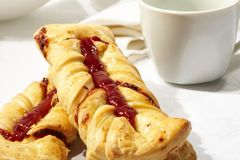 Puff pastry with jam Stock Photography