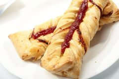 Puff pastry with jam Stock Image