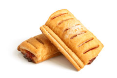 Puff pastry with jam royalty free stock images