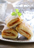 Puff pastry with jam Royalty Free Stock Photography
