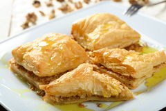 Puff pastry with mince Royalty Free Stock Image