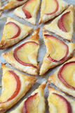 Puff pastry with nectarines stock photography