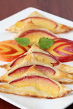 Puff pastry with nectarines Royalty Free Stock Image