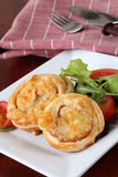 Puff pastry nests Stock Photos