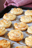 Puff pastry nests Stock Image