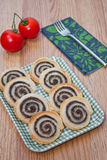 Puff pastry olives rolls Stock Photo