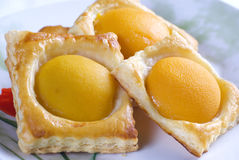 Puff pastry peach Stock Photo