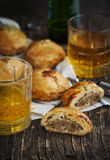 Puff pastry pies with mince meat Royalty Free Stock Photos