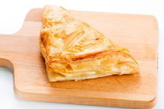 Puff pastry pies with cranberries, apples and honey. Stock Photo