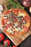 Puff pastry pizza Stock Images