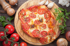Puff pastry pizza Royalty Free Stock Photography