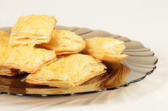 Puff pastry on the plate royalty free stock images