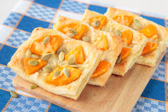 Puff pastry with pumpkin and cheese Stock Image
