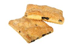 Puff pastry with raisins Stock Photography