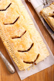 Puff pastry rectangle cake Royalty Free Stock Photo