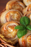 Puff pastry rolls Stock Images