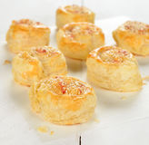Puff pastry rolls with cheese Stock Photography