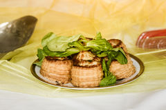 Puff pastry rolls Stock Photo