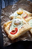 Puff pastry sandwiches Royalty Free Stock Photos