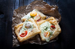 Puff pastry sandwiches Royalty Free Stock Image