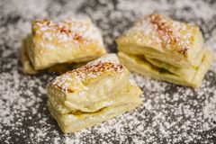 Puff pastry with seeds above Royalty Free Stock Photo