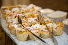 Puff pastry served on the party Royalty Free Stock Photography