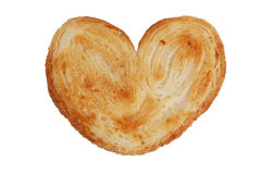 Puff pastry in the shape of a heart Stock Photo