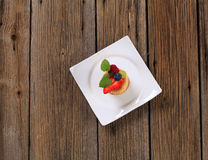 Puff pastry shell with fruit Stock Photos