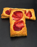 Puff pastry slices Stock Photography