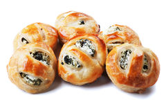 Puff pastry with spinac and cheese Royalty Free Stock Image