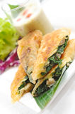 Puff pastry with spinach-cheese Royalty Free Stock Photo