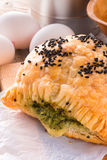 Puff pastry with spinach filling