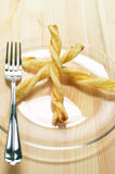 Puff pastry sticks Stock Images