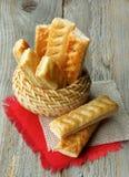 Puff Pastry Sticks Stock Image