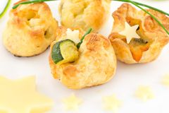 Puff pastry stuffed Stock Images