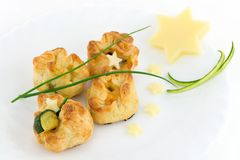 Puff pastry stuffed Royalty Free Stock Photography