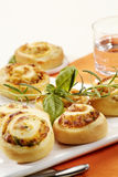 Puff Pastry Swirls With Herb Filling Royalty Free Stock Photography