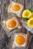 Puff pastry tarts. Royalty Free Stock Images