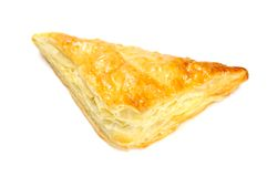 Puff Pastry Triangle Isolated on White Stock Photo