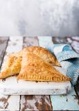 Puff pastry triangles Royalty Free Stock Photos