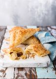 Puff pastry triangles Royalty Free Stock Images