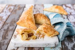 Puff pastry triangles Stock Photos