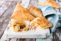 Puff pastry triangles Royalty Free Stock Photo