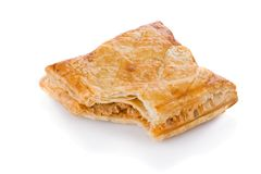 Puff pastry with tuna and tomato stuffing Royalty Free Stock Photo