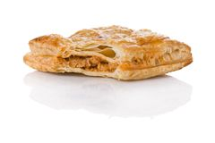 Puff pastry with tuna and tomato stuffing Royalty Free Stock Images