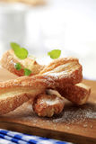 Puff pastry twists stock images