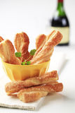 Puff pastry twists Stock Photo