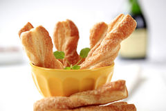 Puff pastry twists royalty free stock photography