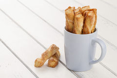 Puff pastry twists Royalty Free Stock Image